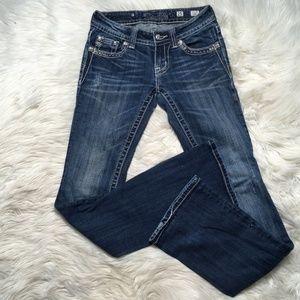 Miss Me Jeans Women size 25 Dark wash faded jw5180